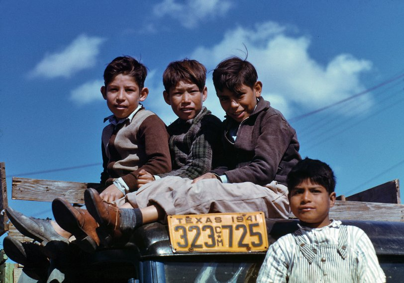 Four Kids on a Truck: 1942