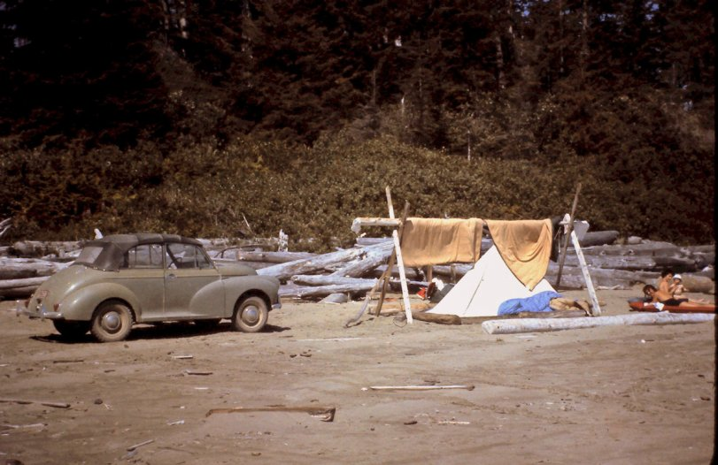 Camping at Tofino: 1962