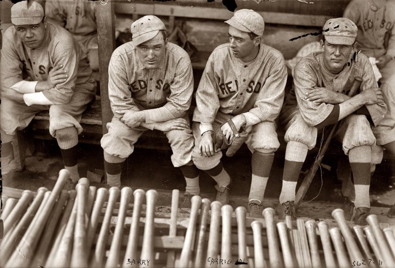 Babe, Bill, Jack and Vean: 1916
