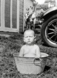 Bath Day: 1931