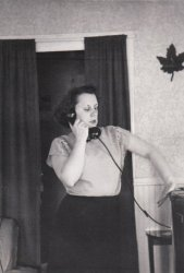 Grandma Flossie on the Phone: 1950s
