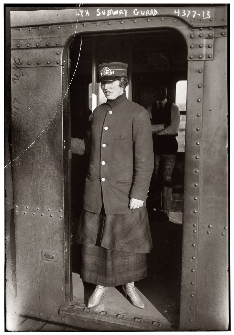 Lady Subway Guard: 1917