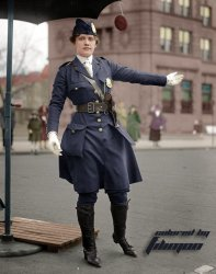 Traffic Cop (Colorized): 1918