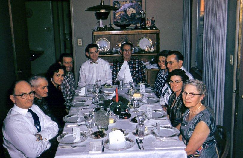 West Covina Christmas Dinner: c. 1950s