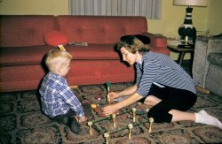 Mom, Me, and my Tinkertoys