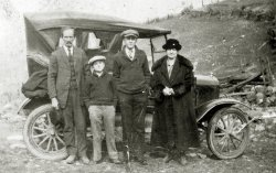 Campbell Family and Car: 1924