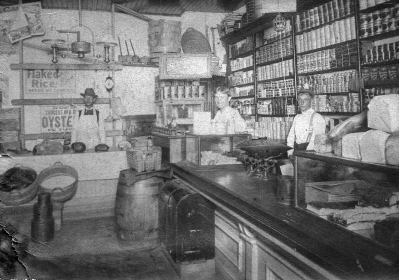 Volkert Grocery, Detroit, 1900 (interior)