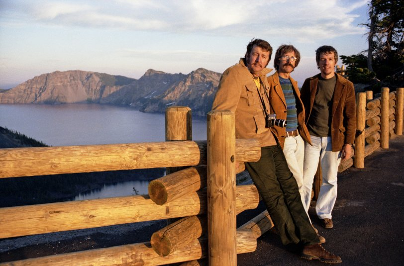 The Hair Brothers at Crater Lake: 1975