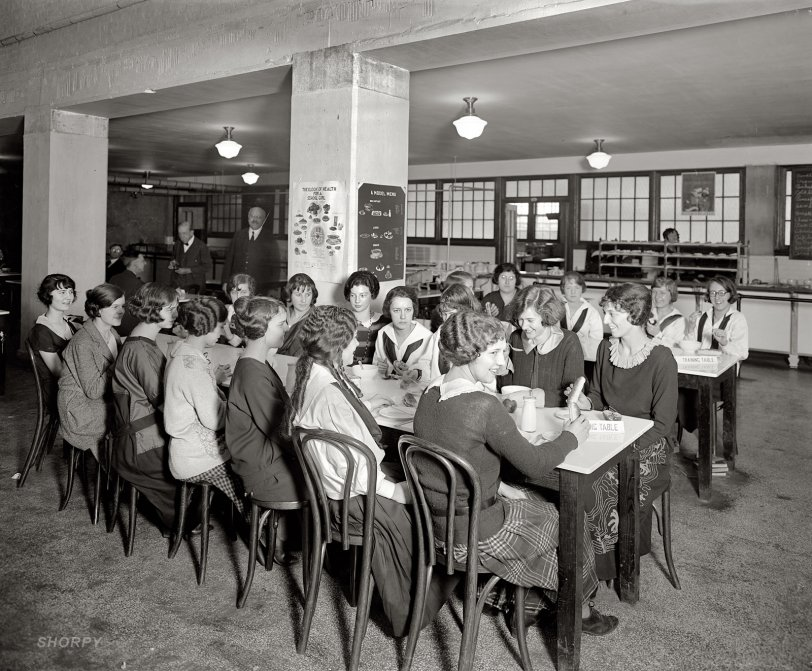 Girls' Training Table: 1923