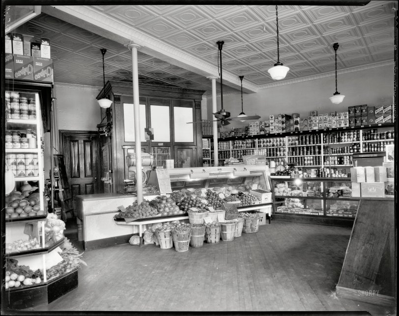 District Grocery Store 1935 Shorpy Old Photos Poster Art