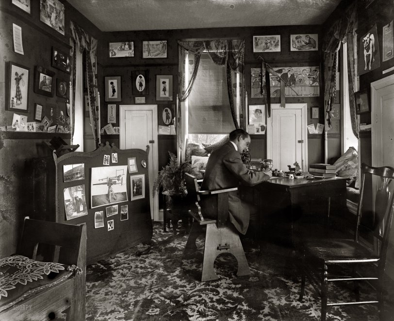Home Office 1920 Shorpy Old Photos Poster Art