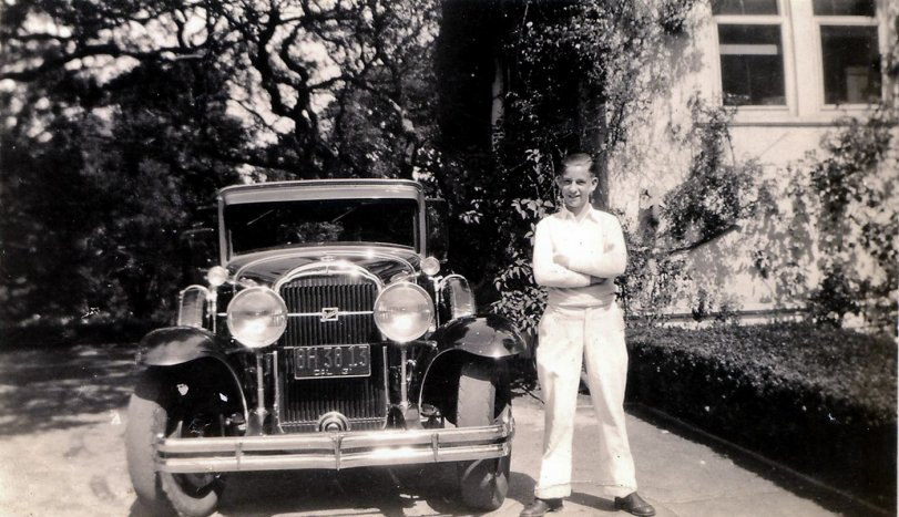 Young Man with Buick: 1931