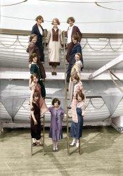 The Dancing Dozen (Colorized): 1925