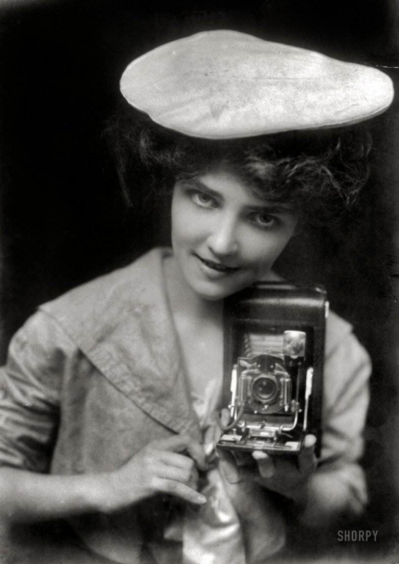 The Kodak Girl: 1909 | Shorpy Old Photos | Poster Art