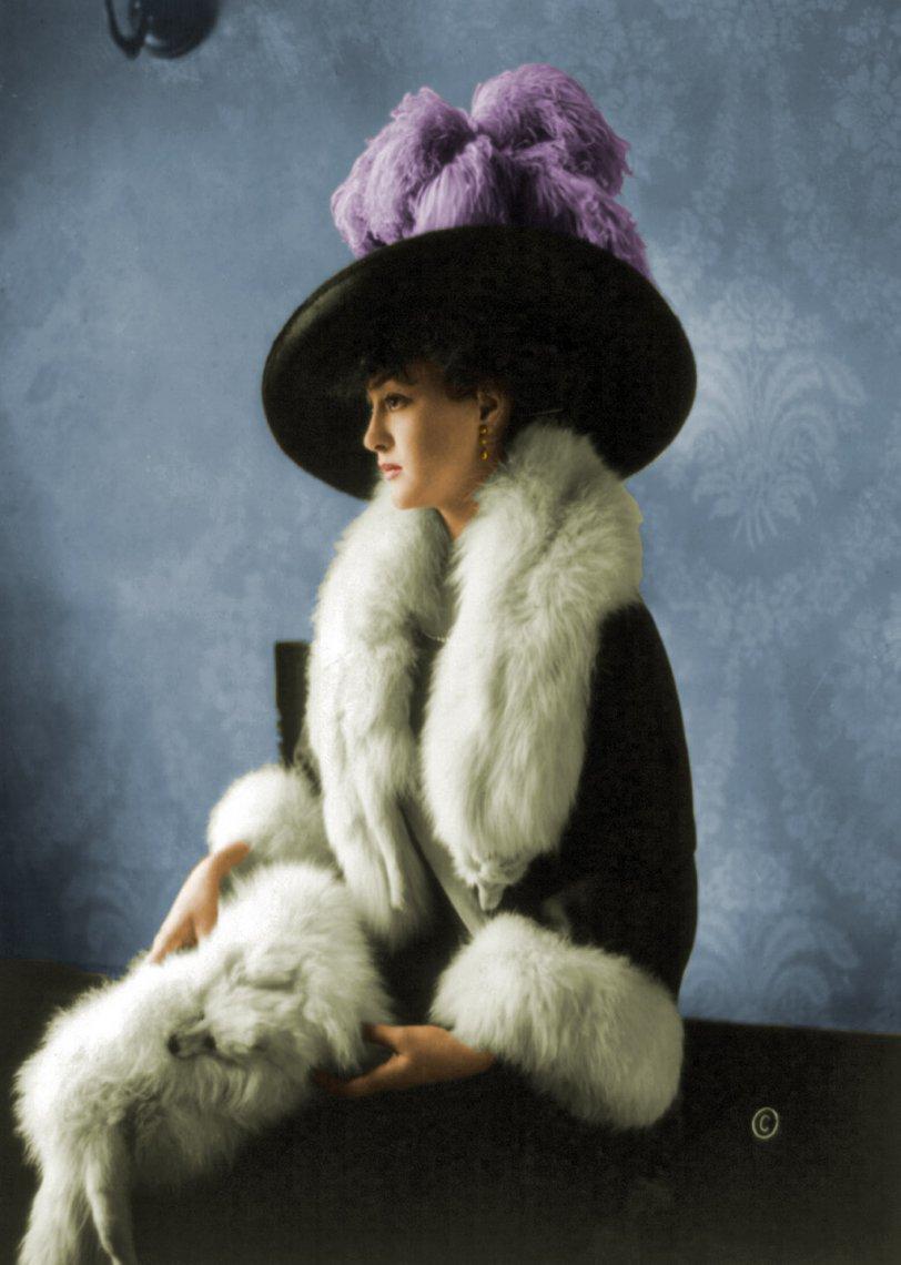 Mrs. Douglas MacArthur (colorized)