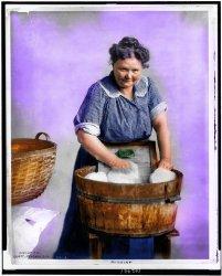 Rubbing (Colorized): 1905
