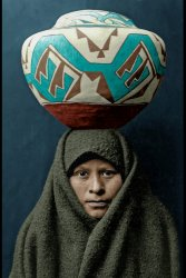 Zuni Girl (Colorized): c. 1903