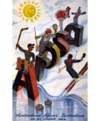 Winter Sports in Arosa: 1939