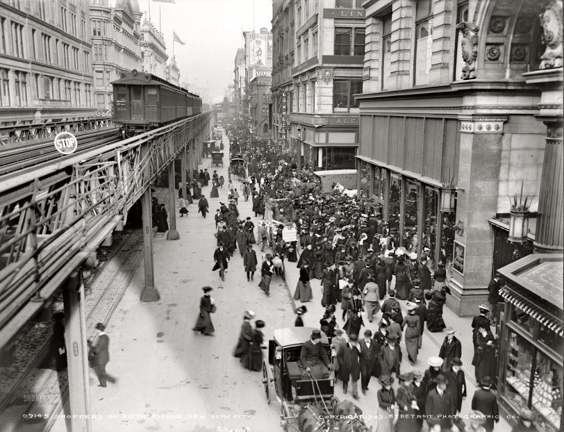 Sixth Avenue Shoppers: 1903