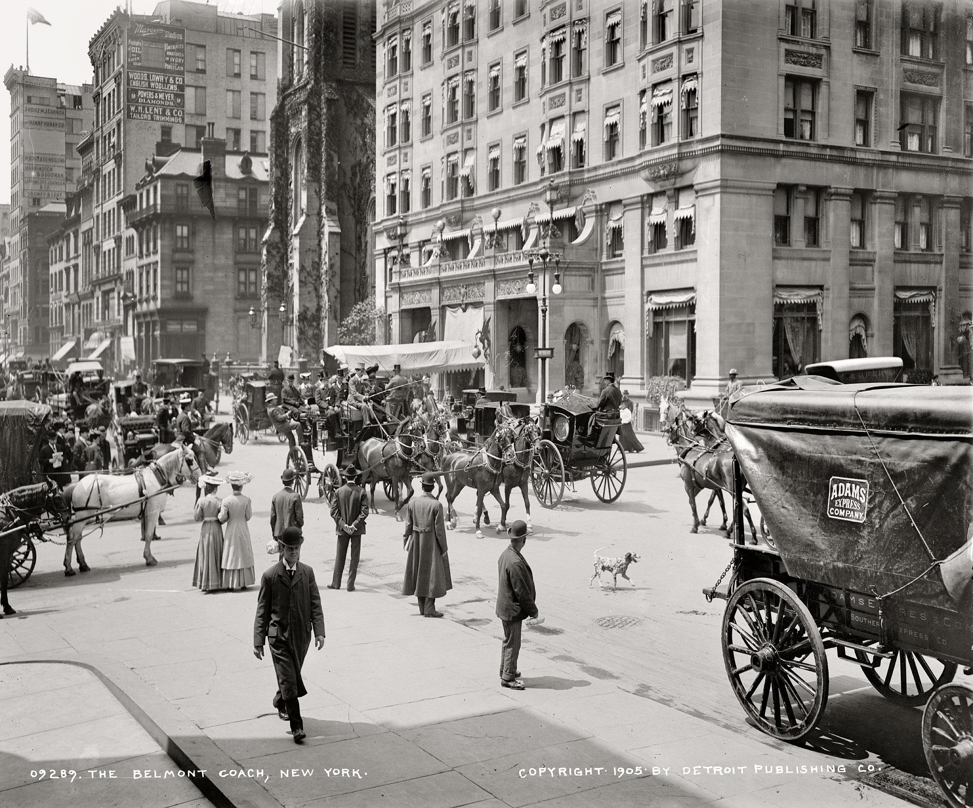 Shorpy Historic Picture Archive The Belmont Coach 1905