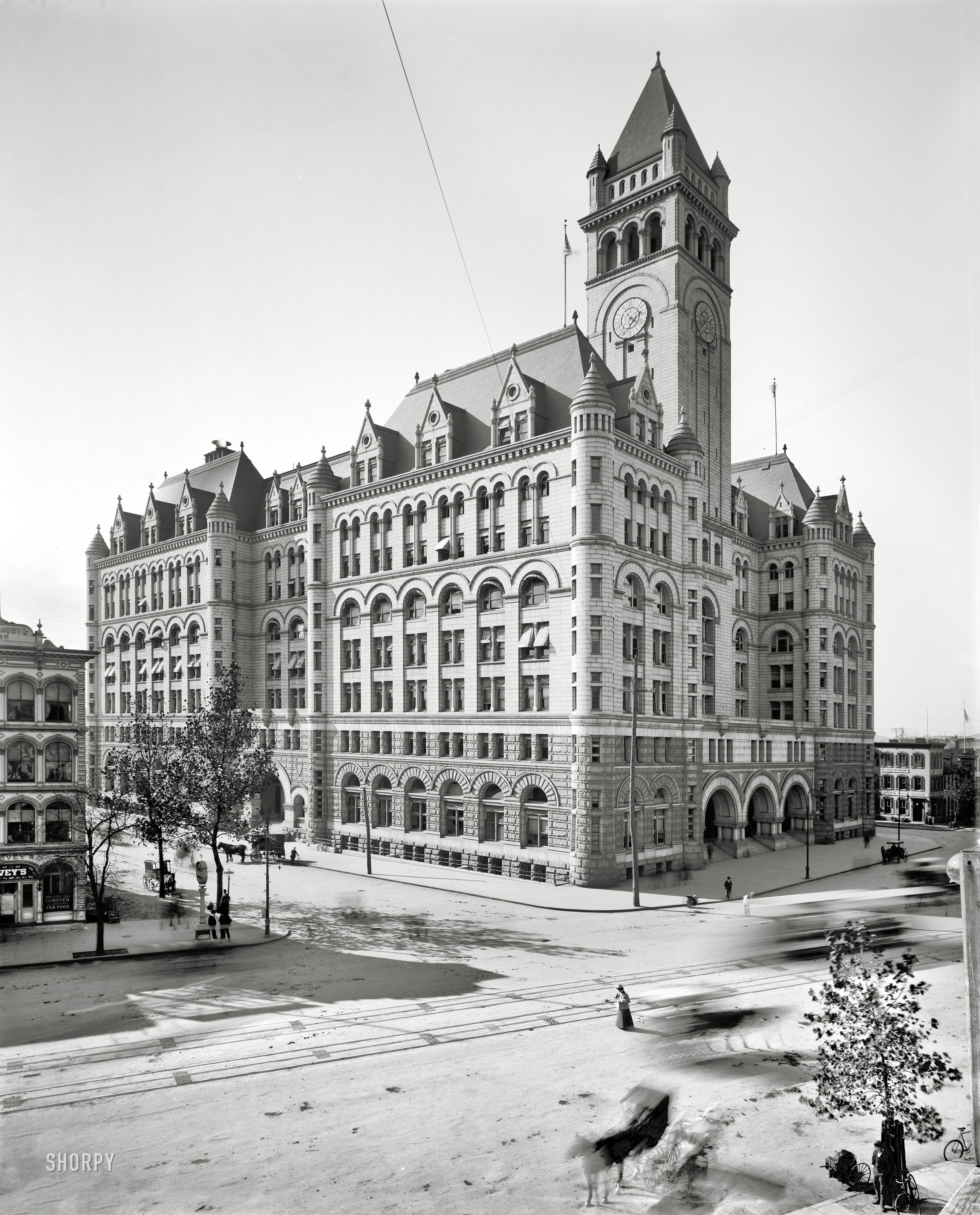 Shorpy Historic Picture Archive :: The New P.O.: 1900 high ...