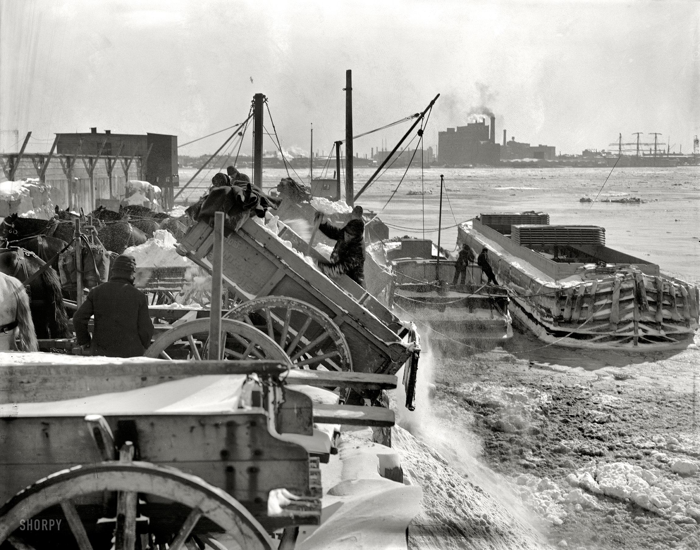 Shorpy Historic Picture Archive Blizzard Dump 1899