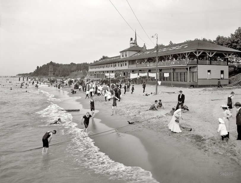 A Romp in the Sand: 1905