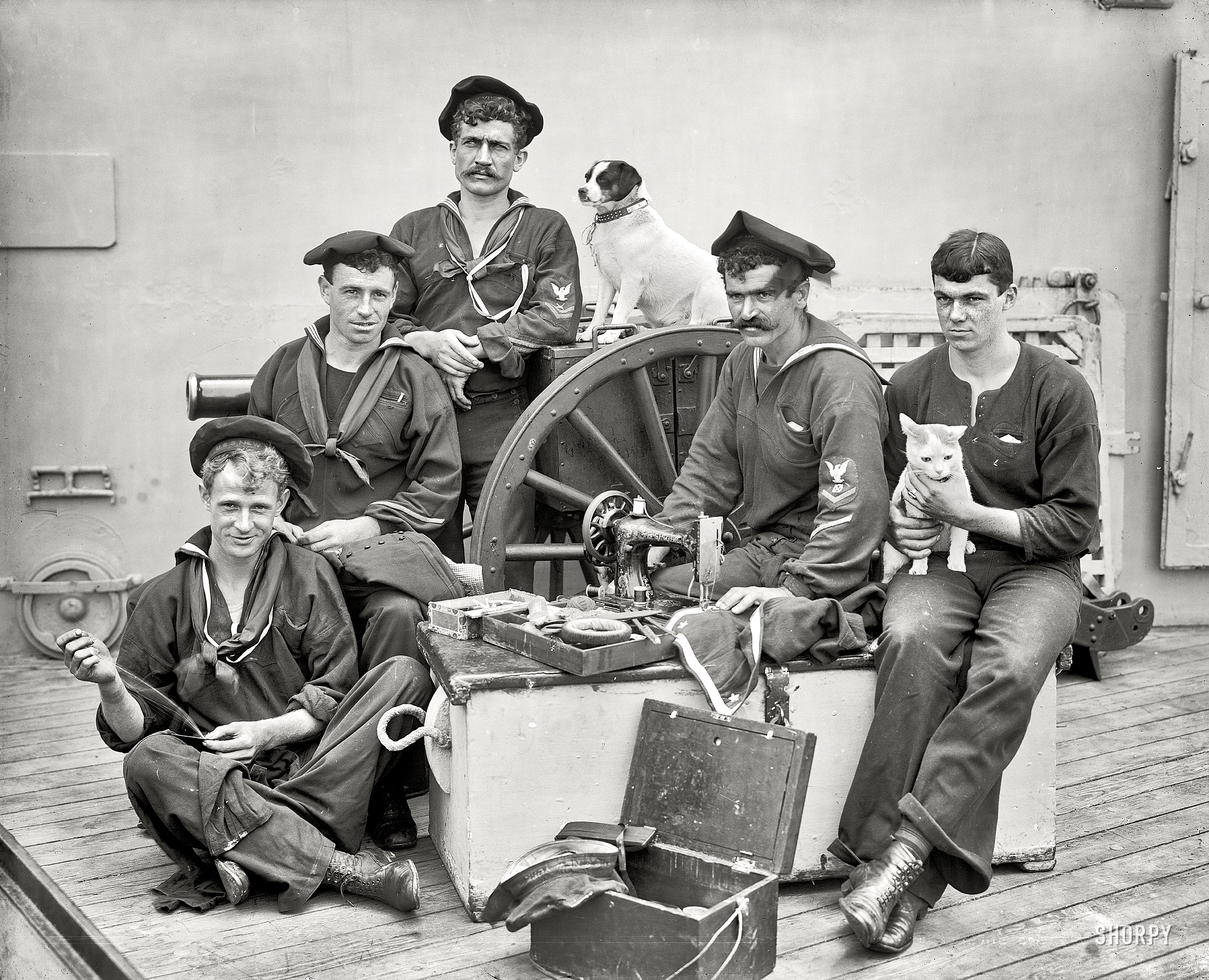 Shorpy Historic Picture Archive :: Sailing Tailors: 1896 high-resolution  photo