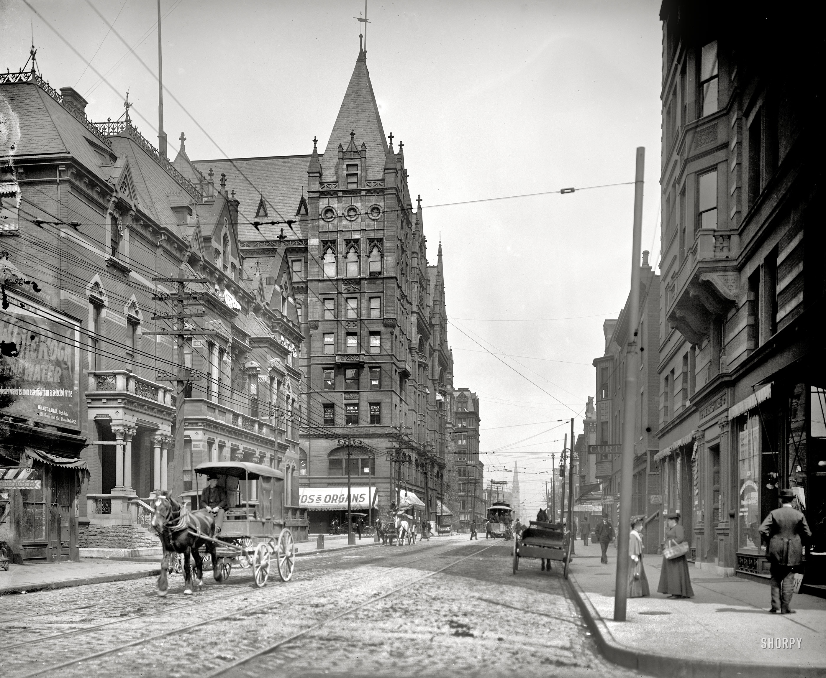 Shorpy Historic Picture Archive Elm Street 1905 high