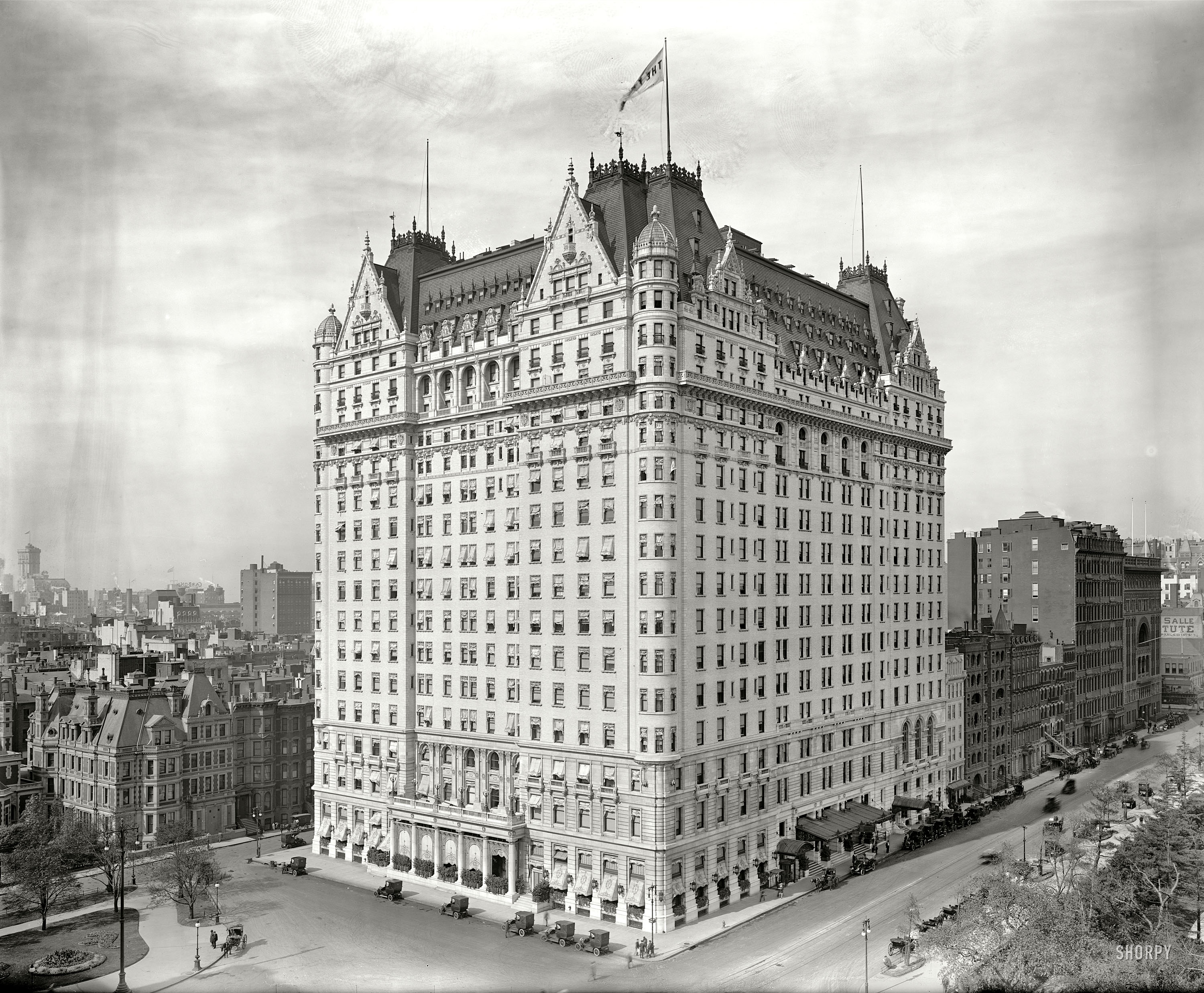 Shorpy Historic Picture Archive The Plaza 1912 High Resolution Hotel Netherland On Fifth Ave New York