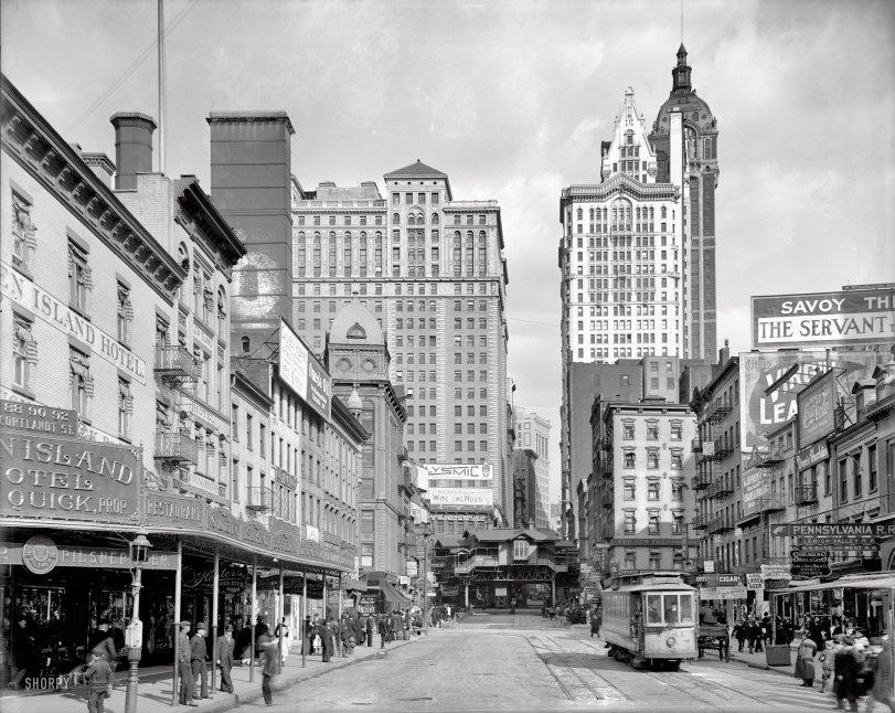 Cortlandt Street: 1908
