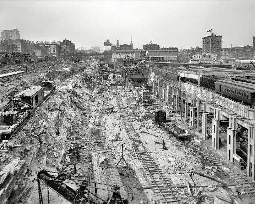 Infrastructure 1908 Shorpy Vintage Photography