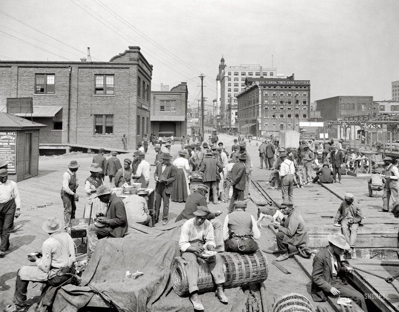 Dinner on the Docks: 1910
