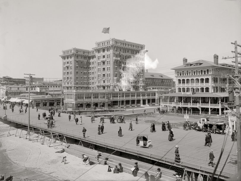 Atlantic City Boardwalk: 1908