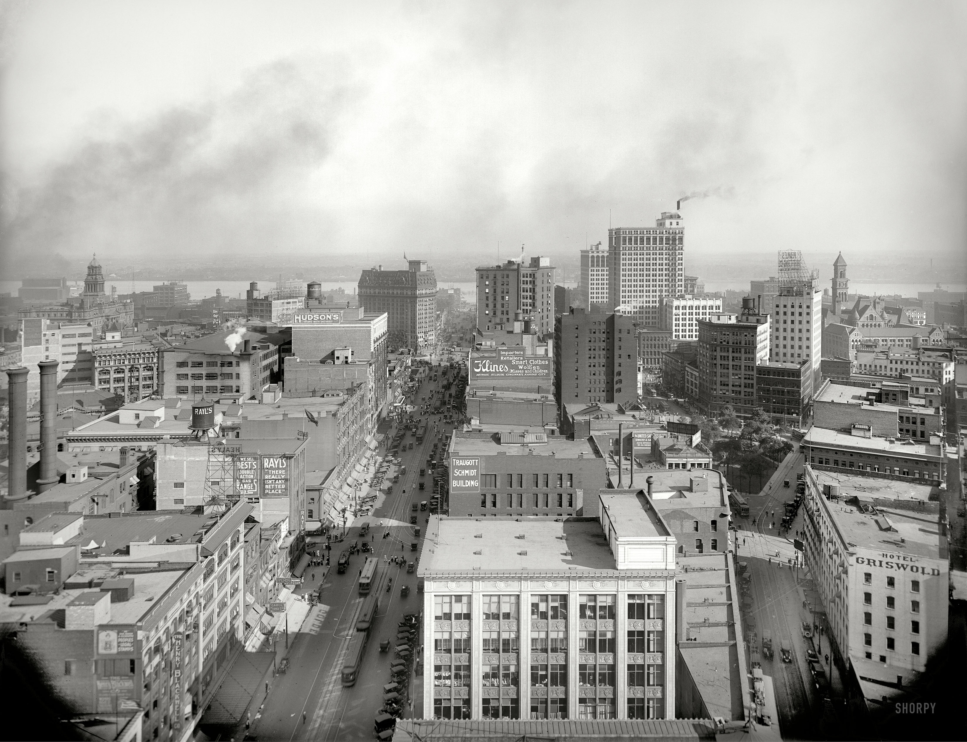 Shorpy historic picture archive the motor city 1917 for Motor city casino parking