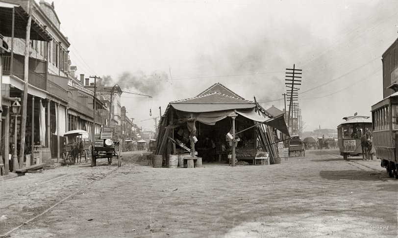 The Old French Market: 1880s