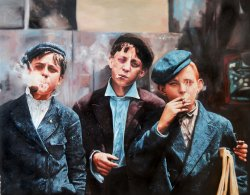 Skeeters Branch Newsies (Oil Painting)