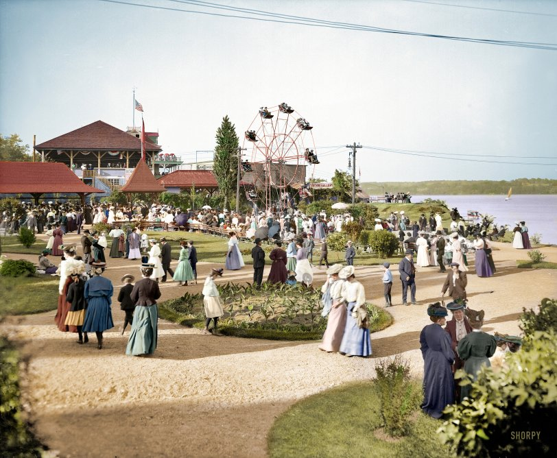 Kingston Point Park (Colorized): 1906