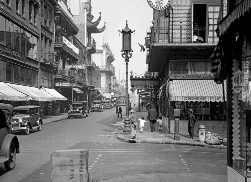 Chinatown 1930 Shorpy Old Photos Vintage Photography