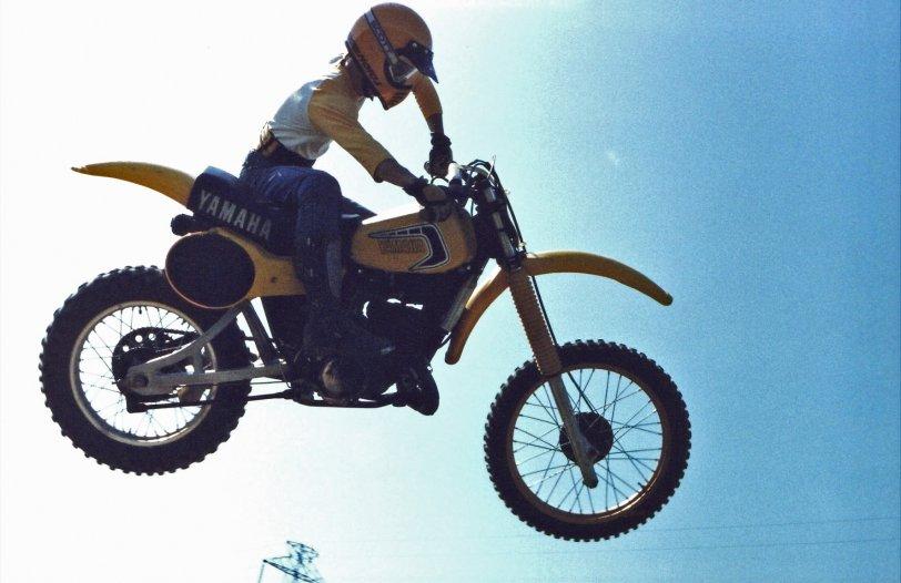 Jumping a Yamaha YZ250: 1980