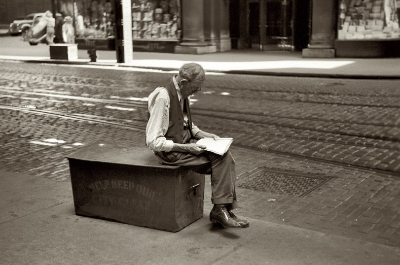 Waiting and Reading: 1940