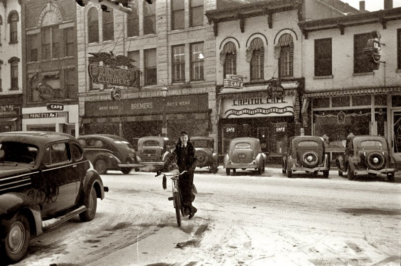 Iowa City in the Snow: 1940