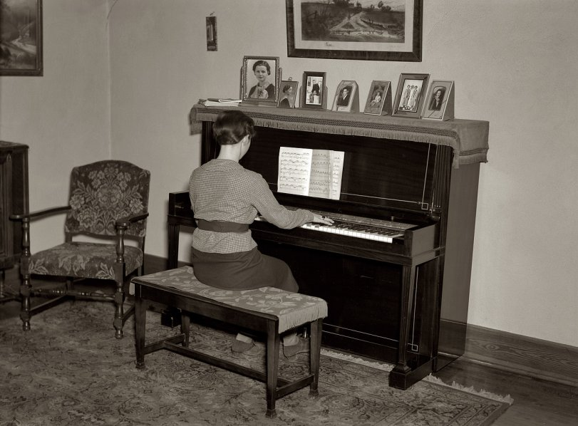 Lois at the Piano: 1936