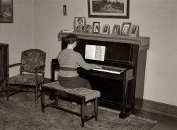 Lois at the Piano: 1936