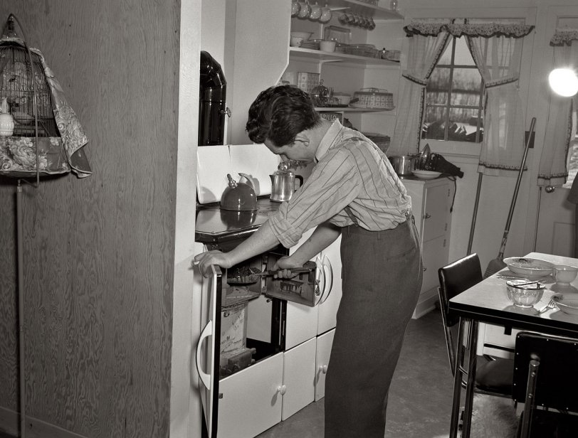 Coaling the Stove: 1942