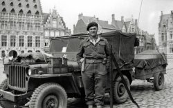 Jeep in Ypres: 1945