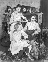 Mother and Daughters: 1910