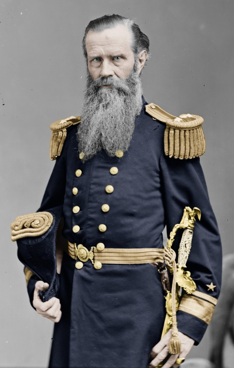Admiral John Lorimer Worden  (Colorized): 1865-1880