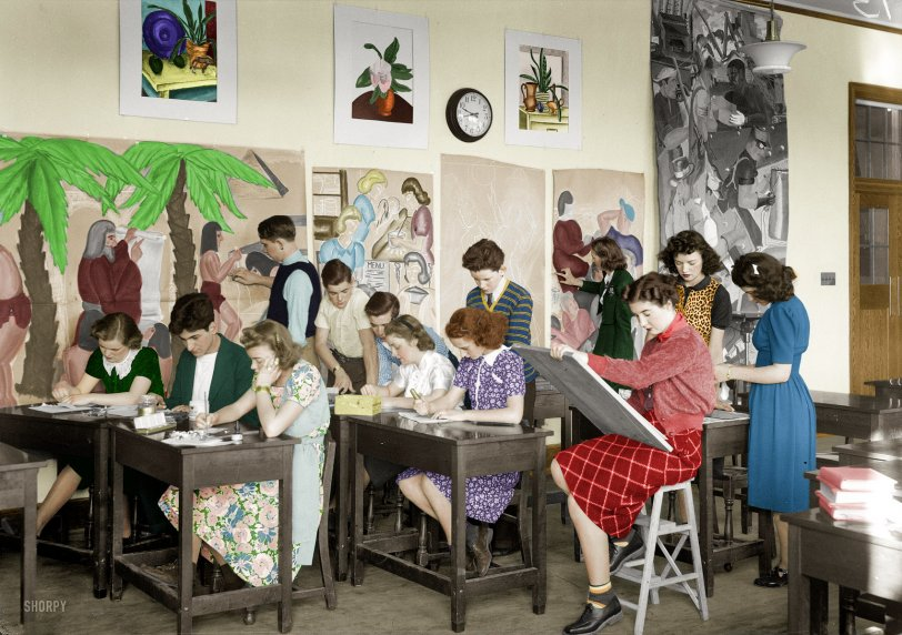 The Young Artists (Colorized): 1939