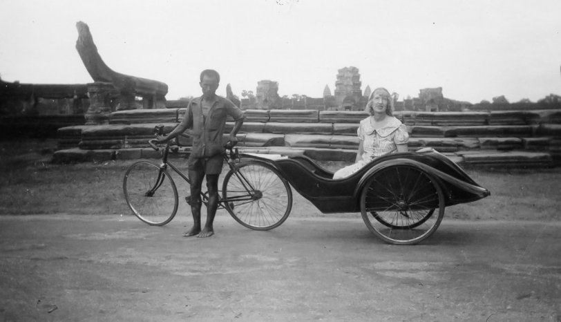 Angkor Wat Rickshaw: 1939